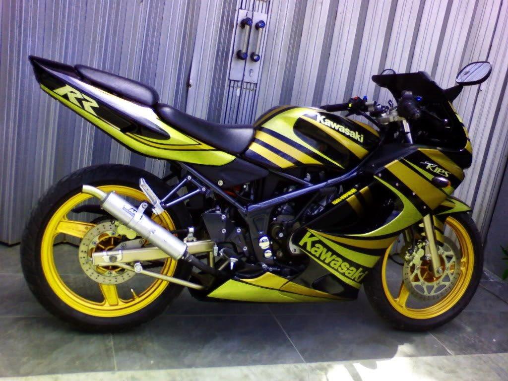 Modifikasi Motor Ninja 150 RR Drag Race