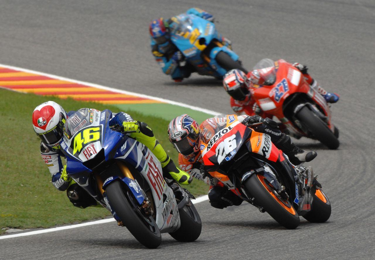 Valentino Rossi vs Dani Pedrosa