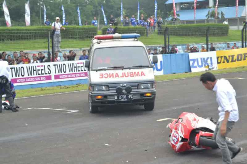 kabar m fadli,kabar terbaru m fadli,m. fadli,pembalap Indonesia,pembalap indonesia kecelakaan