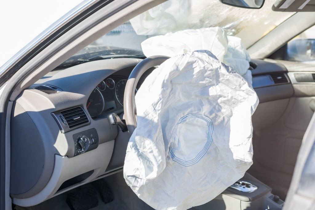 airbags deployed in a hit and run accident