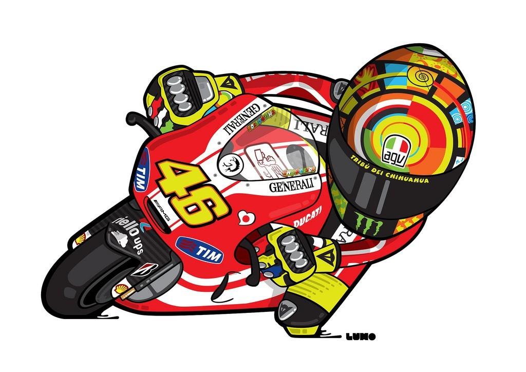 Gambar Kartun MotoGP Valentino Rossi | BINTOM/juni 2017